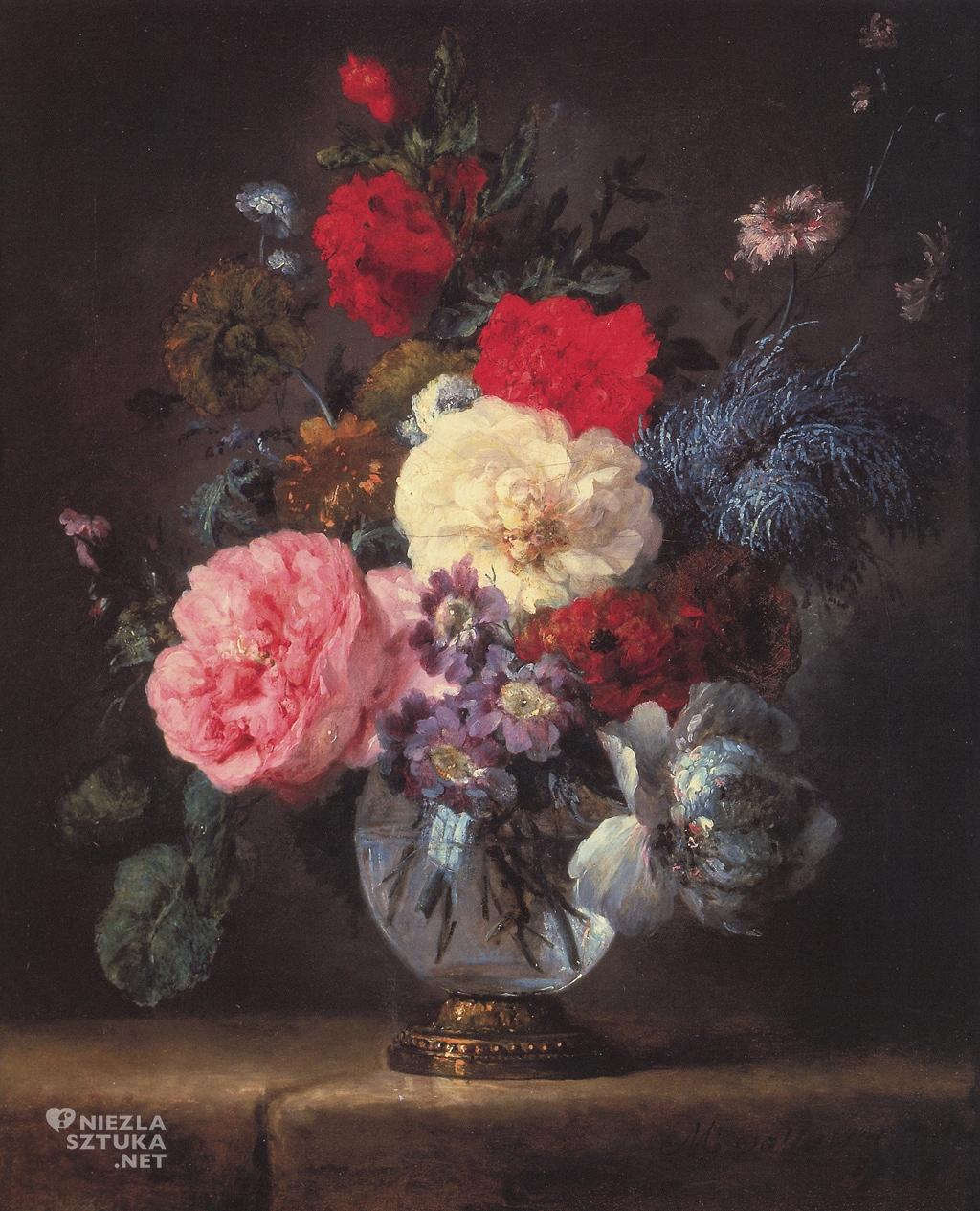 Anne Vallayer-Coster,Kwiaty w krysztalowej wazie, | 1786, prywatna kolekcja