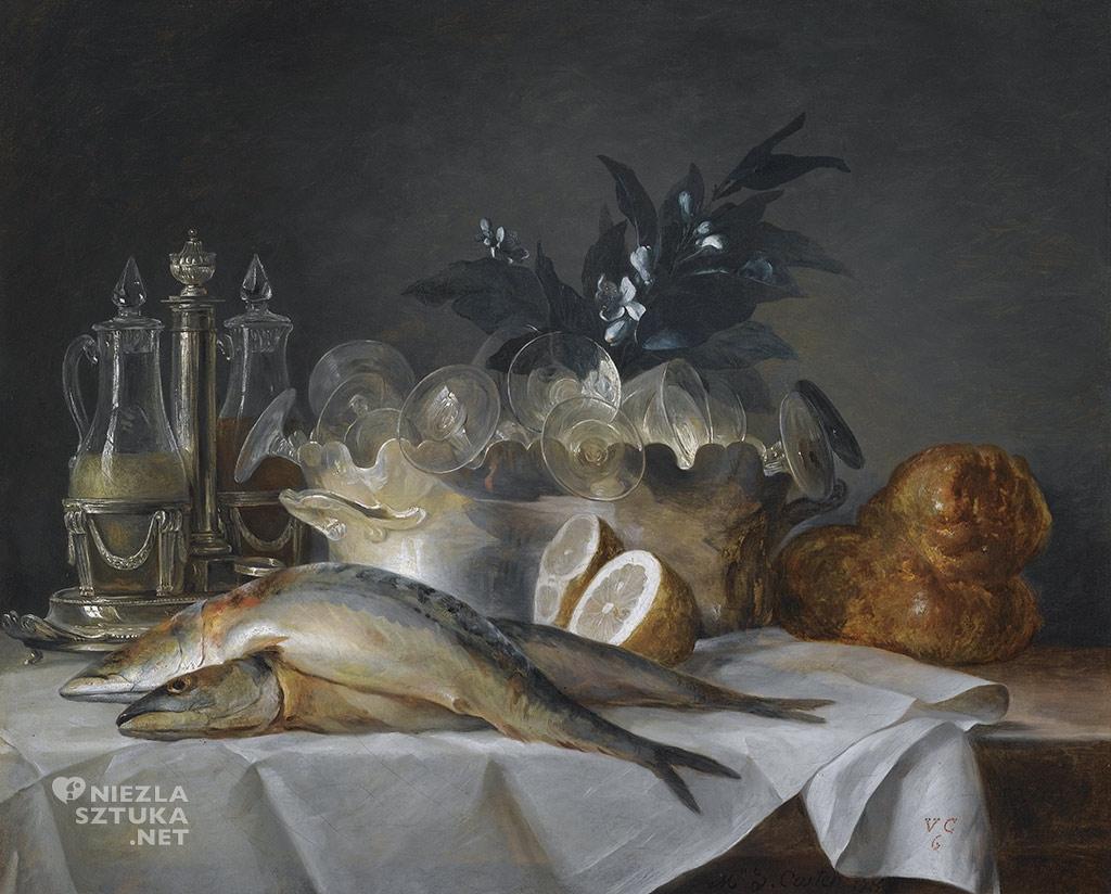 Anne Vallayer-Coster Martwa natura z makrelą