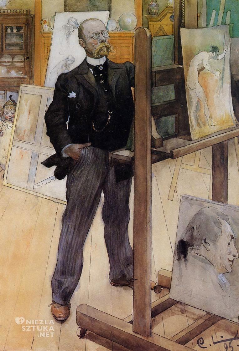 Carl Larsson, Autoportret, 1895