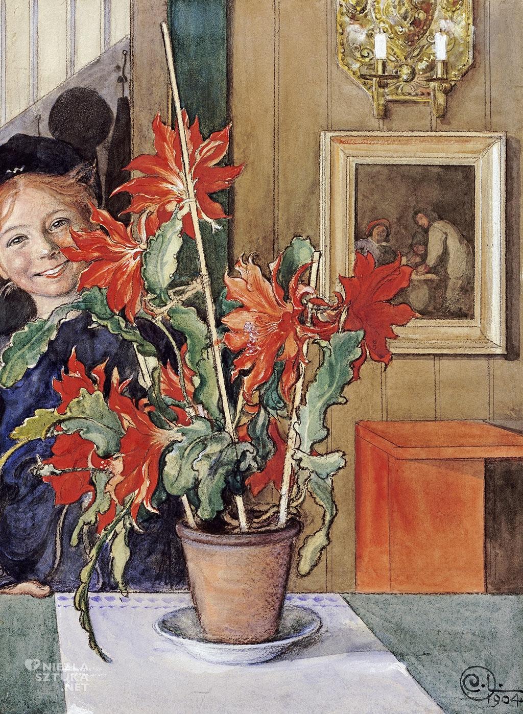 Carl Larsson, Brita z kaktusem, 1904