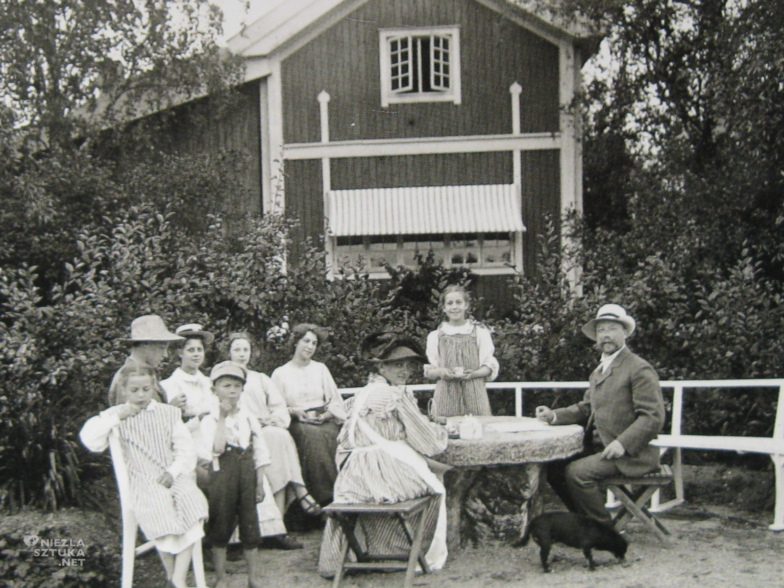 Carl Larsson z rodziną