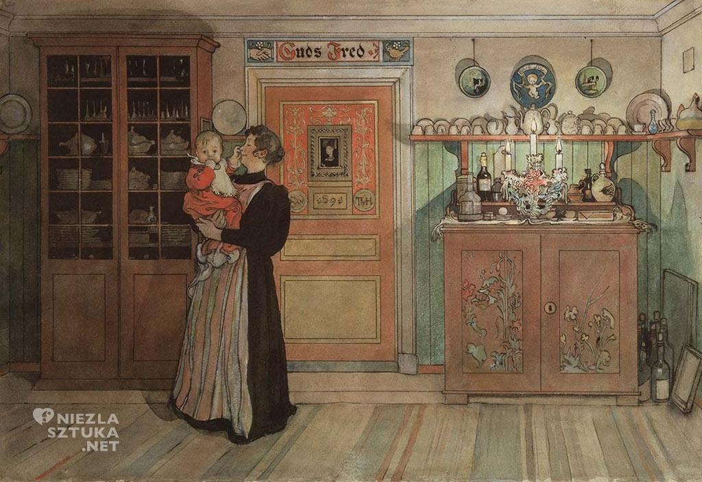 Carl Larsson, Między Bożym Narodzeniem a Nowym Rokiem, ok. 1895