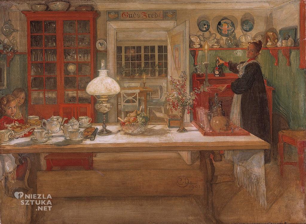 Carl Larsson, Przygotowania do gry, 1901