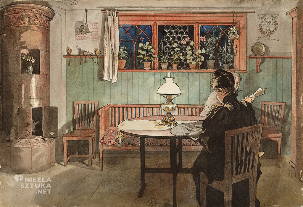 Carl Larsson, Kiedy dzieci poszły spać, ok. 1895