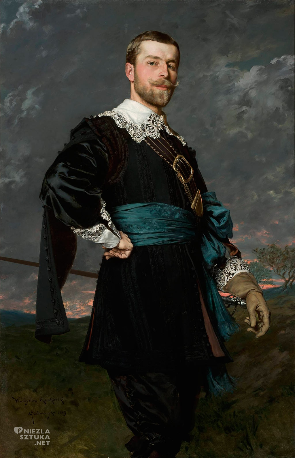 Portret Stanisława Czachórskiego (1853-1904), brata artysty Władysław Czachórski