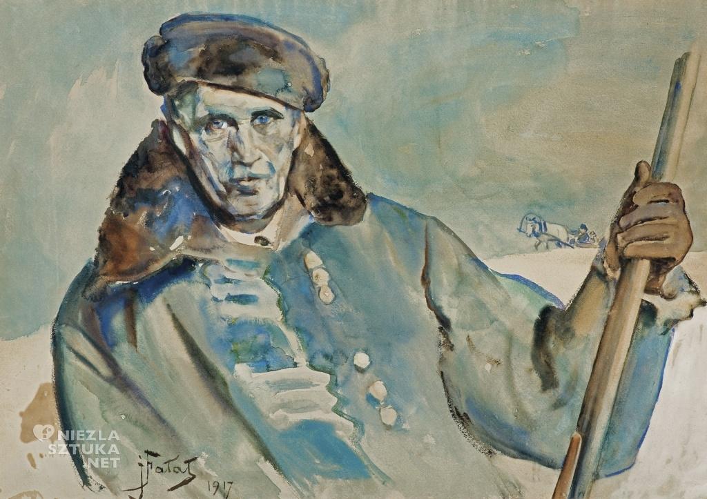 Julian Fałat, Autoportret w zimowym okryciu | 1917, fot. Agraart