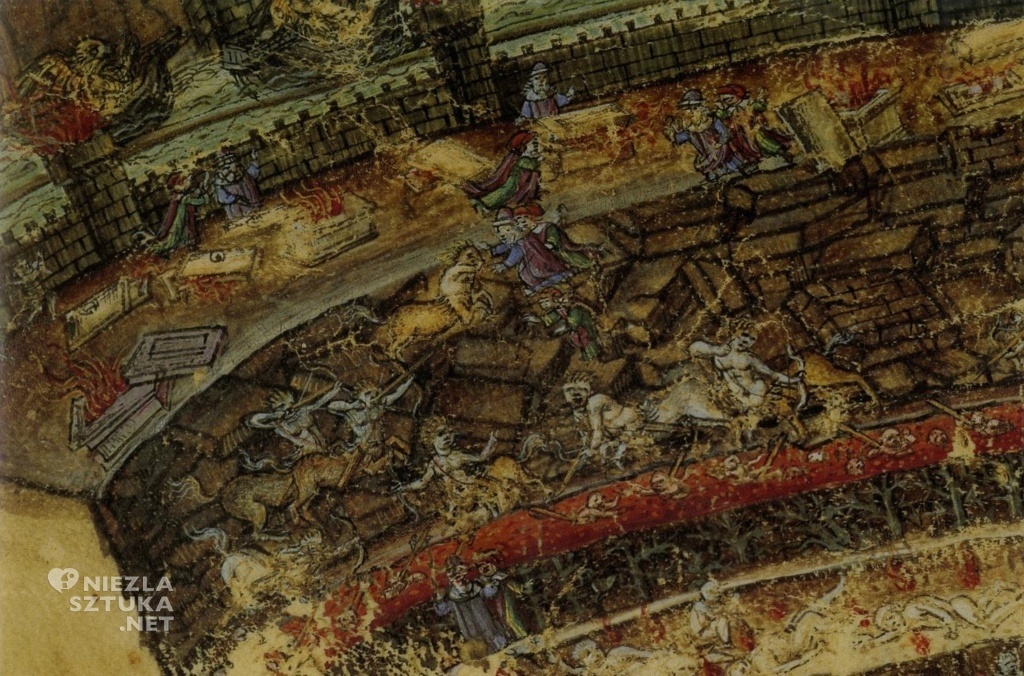 Sandro Botticelli Mapa Piekieł, detal ǀ ok. 1480-1490