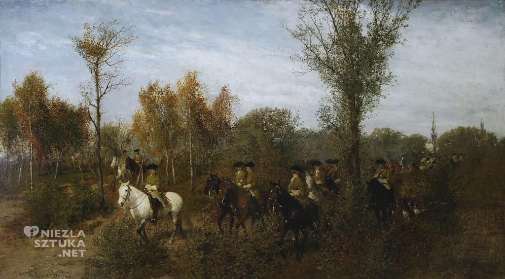Maksymilian Gierymski Konna kawalkada w brzezince 1870-71