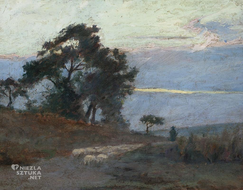 Maksymilian Gierymski Krajobraz o wschodzie słońca 1869