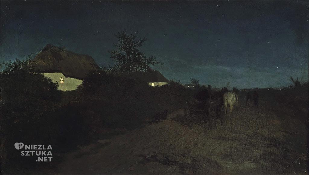 Maksymilian Gierymski, Noc, malarstwo polskie, sztuka polska, Niezła Sztuka