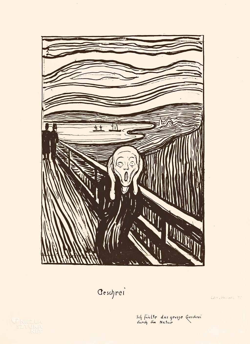Edvard Munch Krzyk | 1895, litografia, Sotheby's