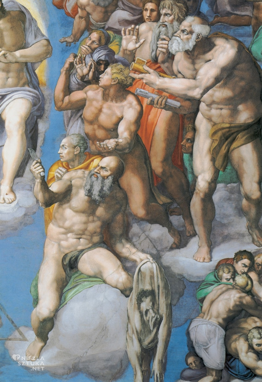 Michał Anioł Sąd Ostateczny,detal ǀ 1536-1541
