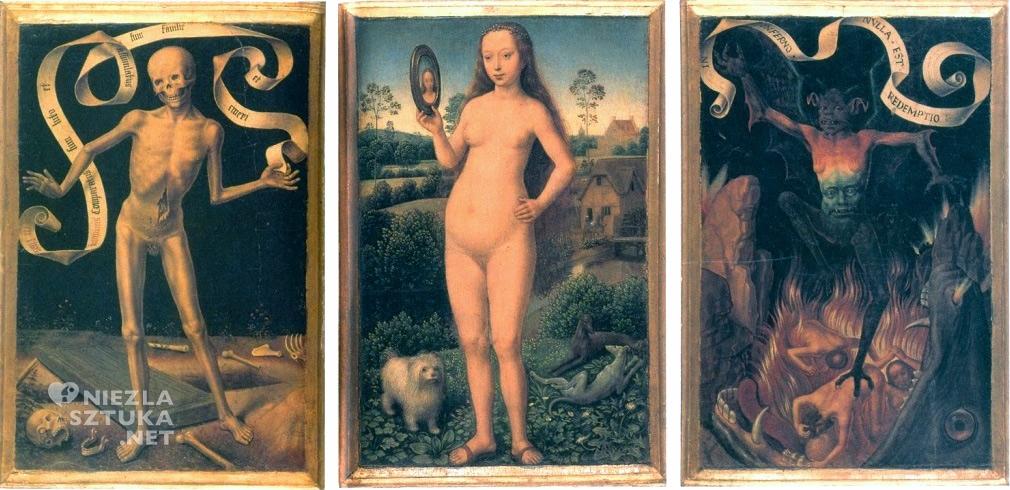 Hans Memling <em>Vanitas i wieczne zbawienie</em>, tryptyk ǀ ok. 1485, Musée des Beaux-Arts w Strasburgu