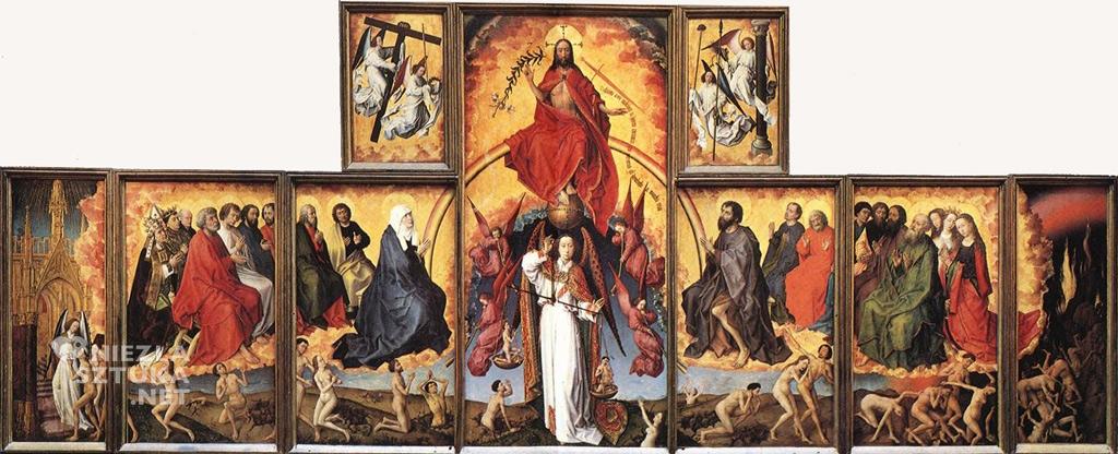 Rogier van der Weyden Sąd Ostateczny ǀ 1445-1450, poliptyk, Hôtel-Dieu, Beaune