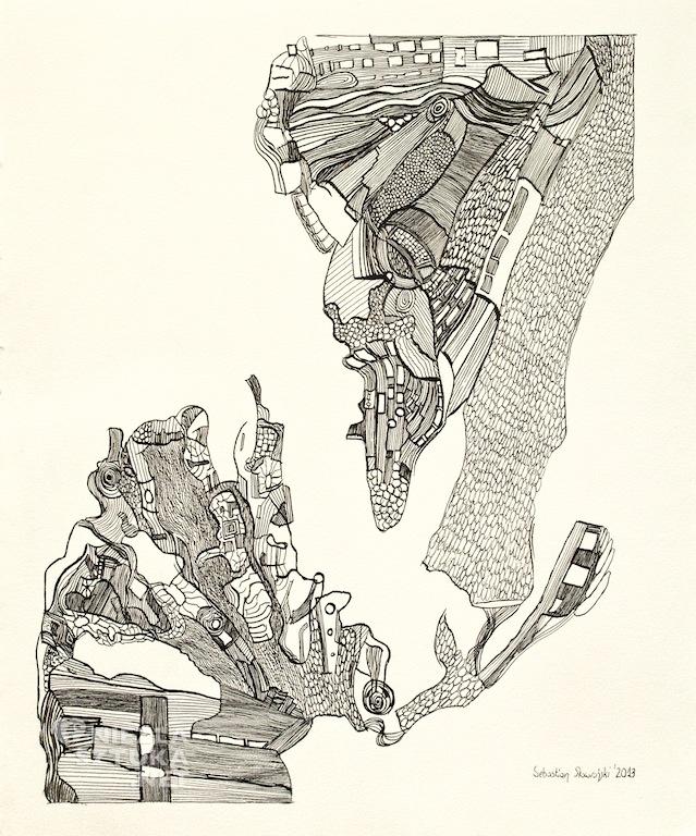 Sebastian Skowroński grafika drzeworyt