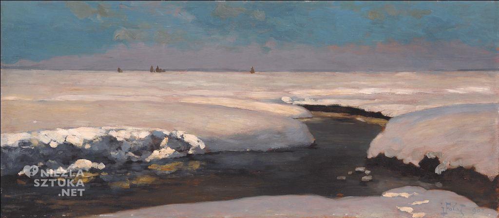 Julian Fałat, Zakole rzeki zimą, 1907