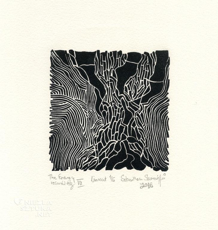 Sebastian Skowroński grafika drzeworyt linoryt