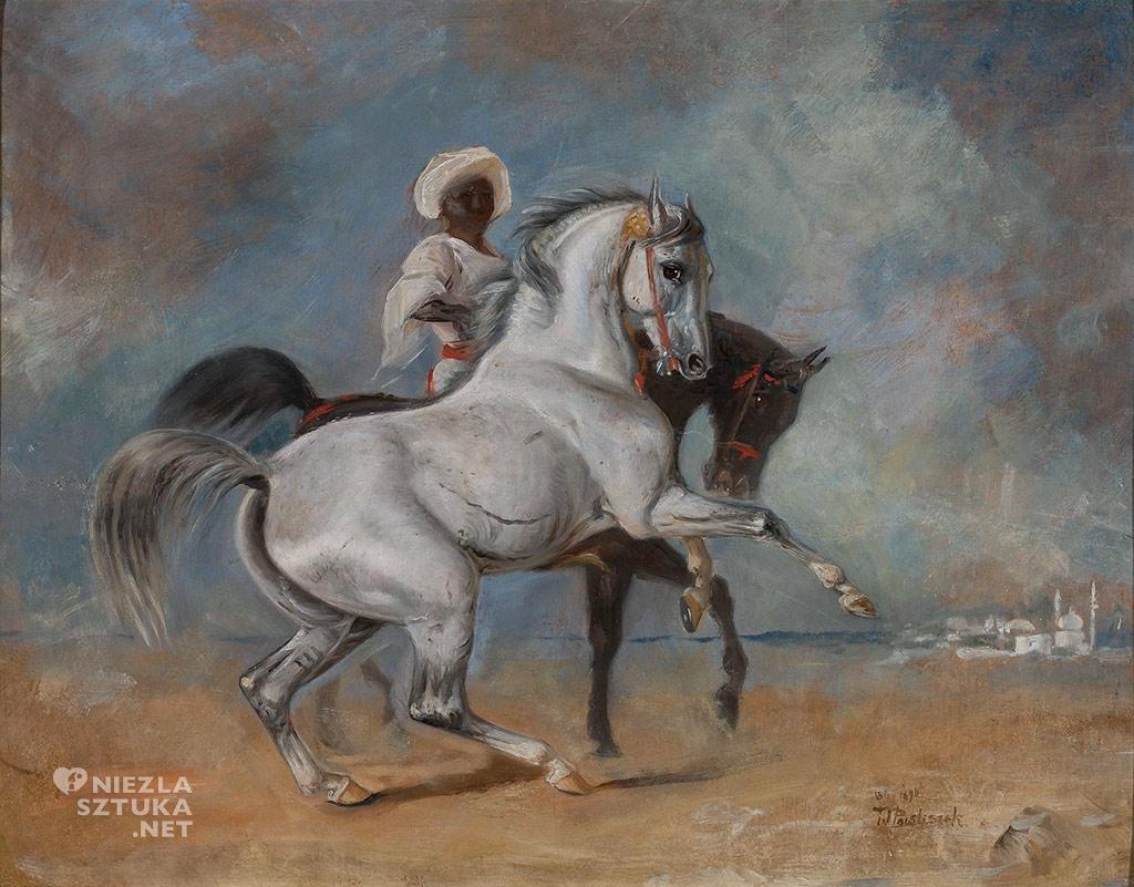 Wacław Pawliszak, Murzyn z końmi, 1890