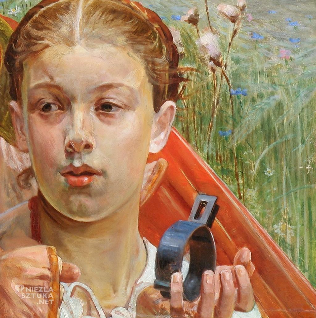 Ojczyzna. (Tryptyk Prawo, Ojczyzna, Sztuka), detal | 1903, olej na desce, 69,5 x 98 cm. Muzeum Narodowe, Wrocław.