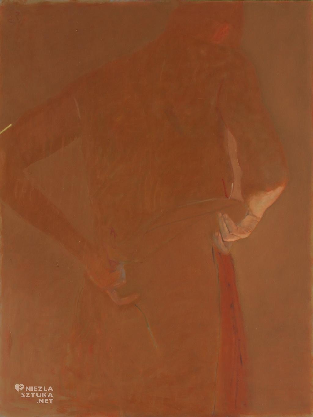 nie-figura ciemnoczerwona (nie-wielka odaliska II)   2008