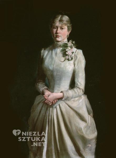 Wojciech Kossak, Portret żony, 1884