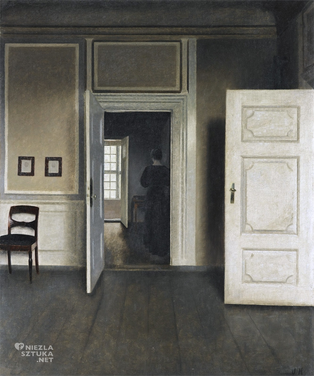 Vilhelm Hammershøi, Wnętrze na Strandgade 30, 1901
