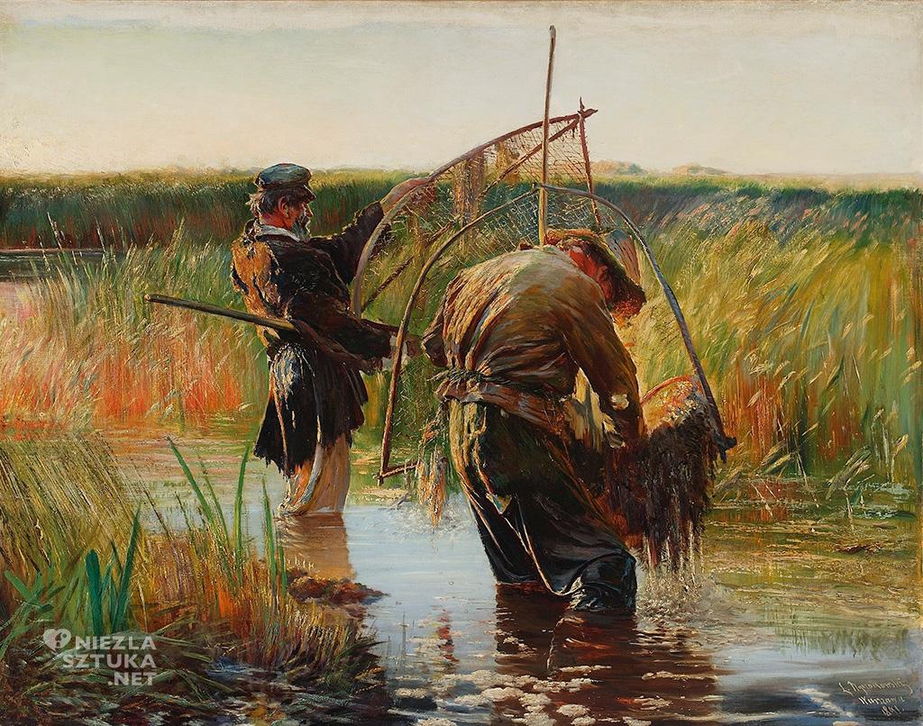 Leon Wyczółkowski, Rybacy brodzący; Połów raków | 1891, MNW