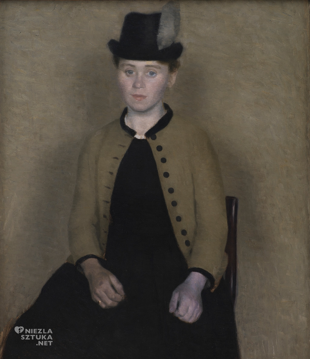 Vilhelm Hammershøi, Portret Idy Ilsted, żony artysty | 1890