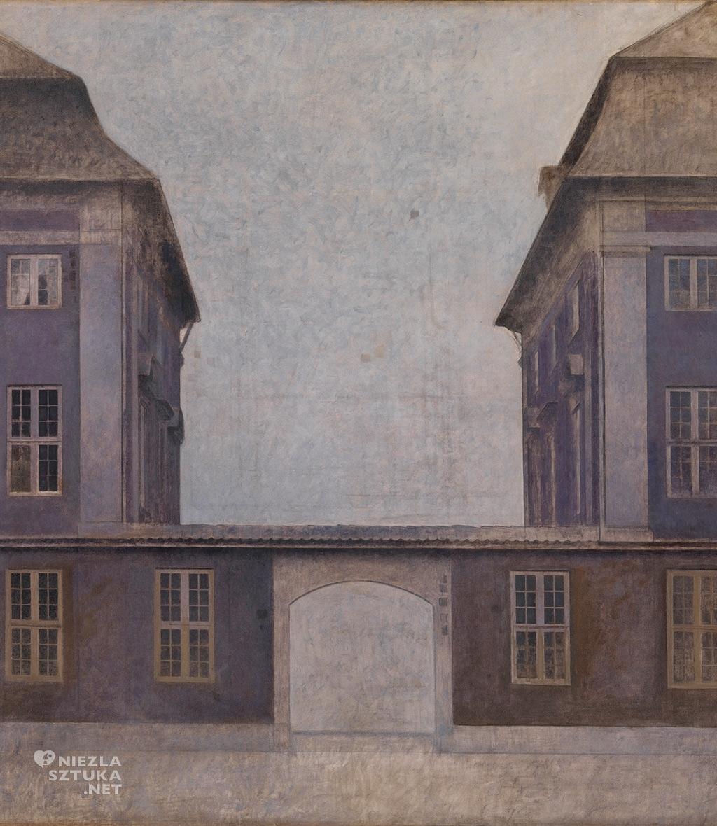 Vilhelm Hammershøi, Budynki azjatyckiej Spółki widziane z ulicy św. Anny, Kopenhaga 1902