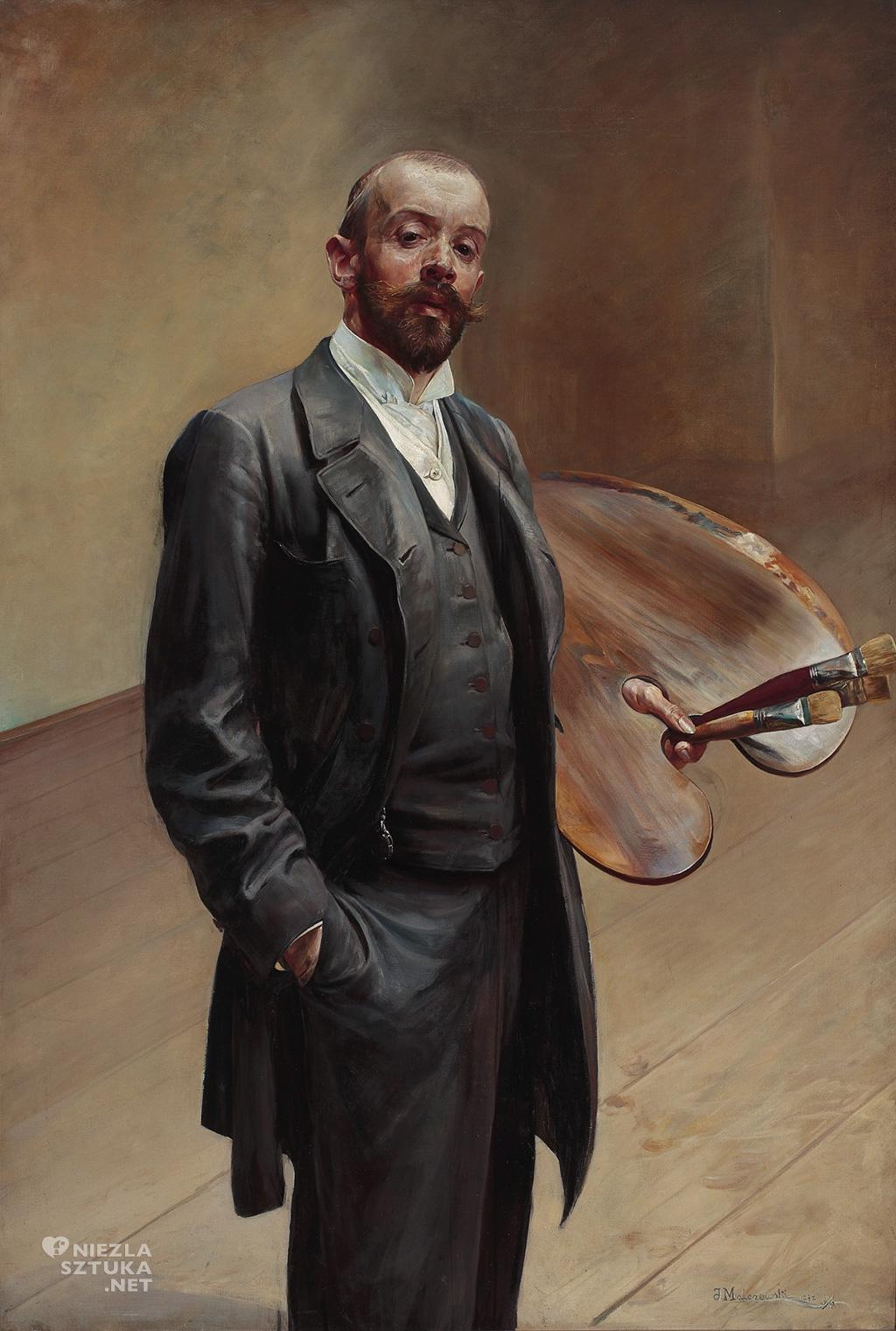 Jacek Malczewski, Autoportret z paletą, 1892, MNW