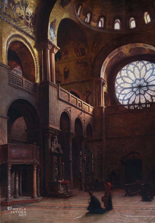 Aleksander Gierymski Wnętrze bazyliki św.Marka w Wenecji, 1899, Muzeum Narodowe w Warszawie