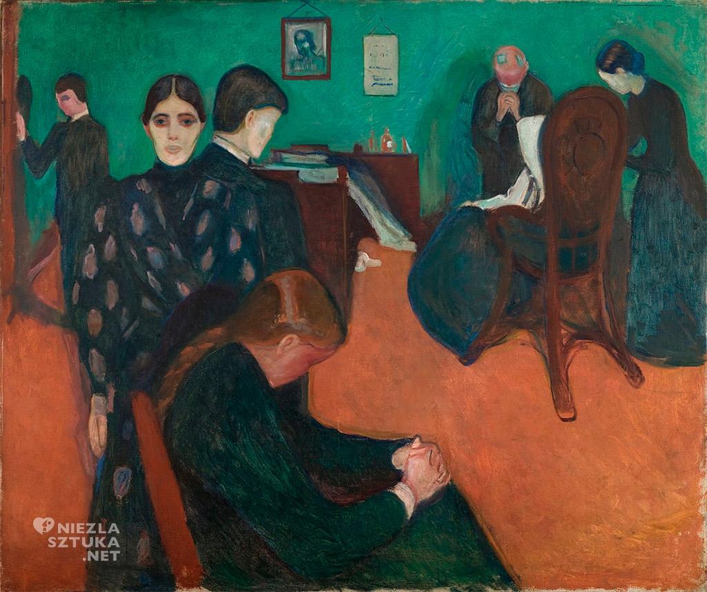 Edvard Munch Śmierć w pokoju chorego