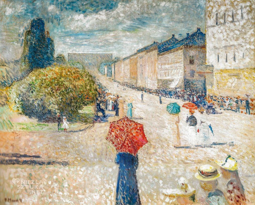 Edvard Munch Wiosenny dzień na Karl Johans gate