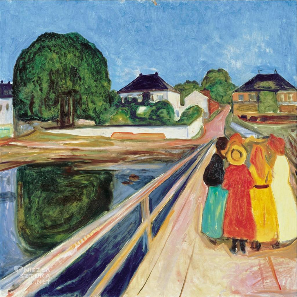 Edvard Munch Dziewczynki na moście | 1902, fot. sothebys