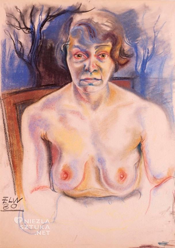 Elfriede Lohse-Wächtler , Autoportret, fot. http://www.museen-boettcherstrasse.de/