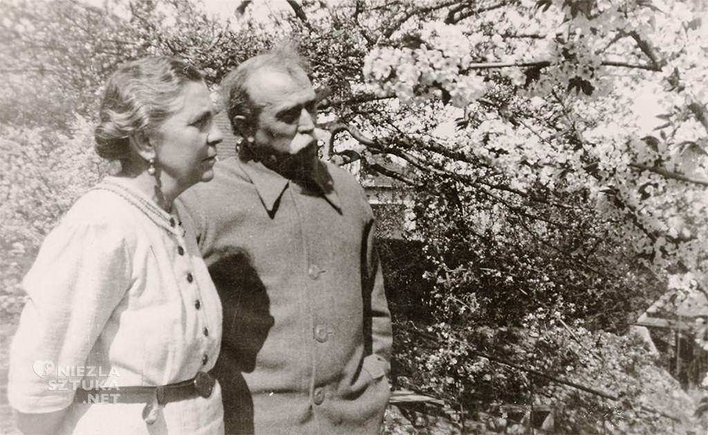 Wlastimil i Ada Hofmanowie w ogrodzie przed domem w Krakowie | 1936 r., fot. dzięki uprzejmości Muzeum Dom Hauptmannów