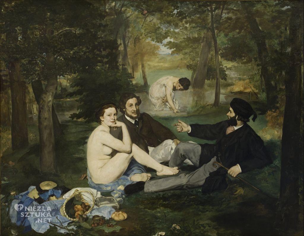 Édouard Manet Śniadanie na trawie Niezała sztuka