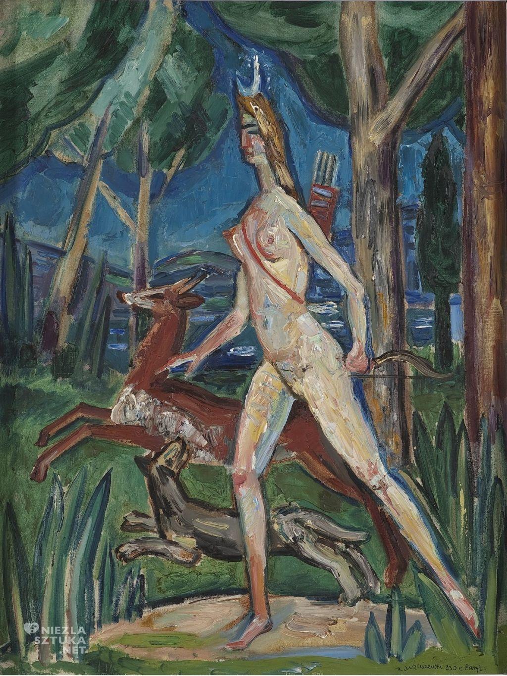 Zygmunt Waliszewski, Diana w lesie | 1930, Muzeum Narodowe w Warszawie