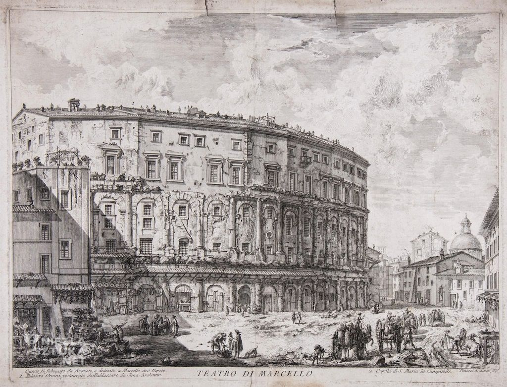 Giovanni Battista Piranesi Teatro di Marcello