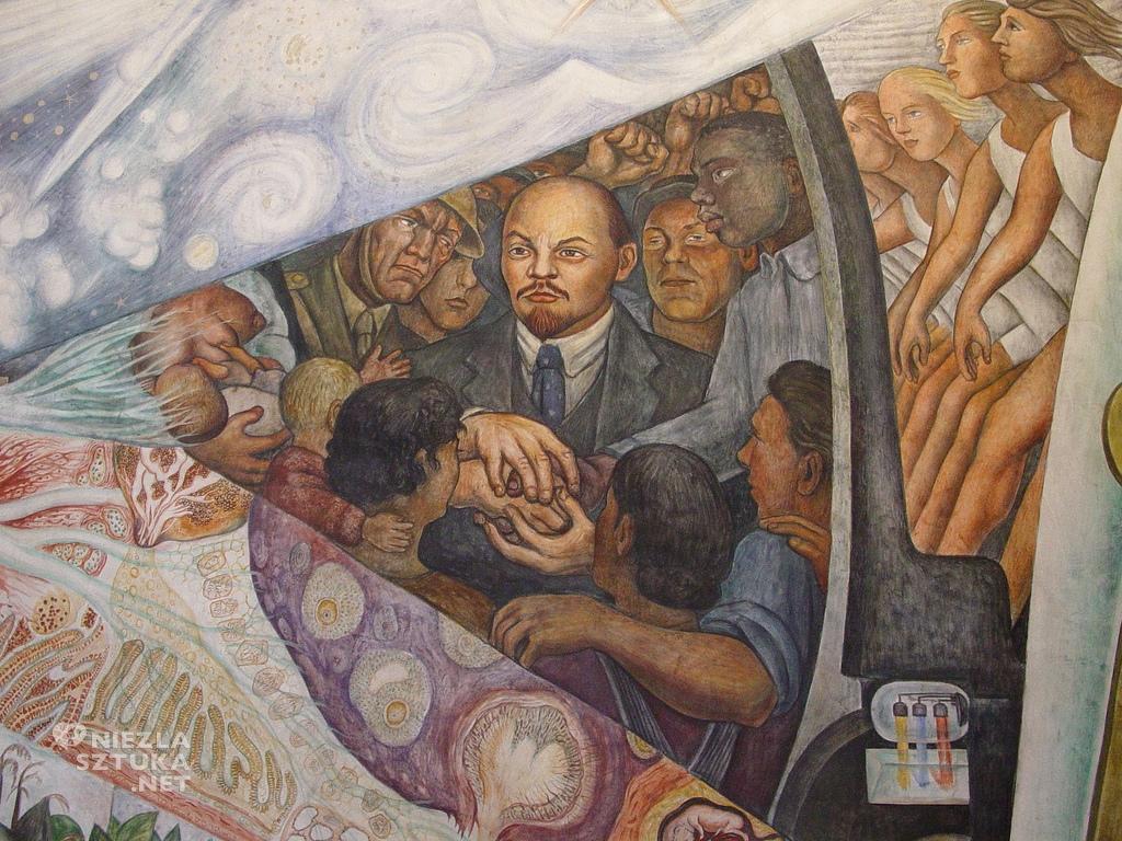 Kopia muralu z Nowego Jorku. Oryginał został zniszczony.