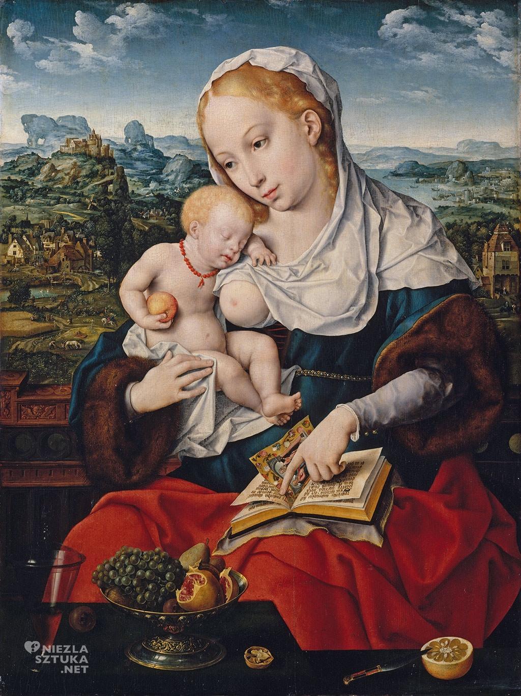 Joos-van-Cleve_Madonna-z-dzieciatkiem, amulety w sztuce