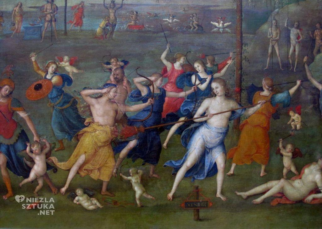 Pietro Perugino Walka Miłości z Czystością, detal | 1503, Luwr