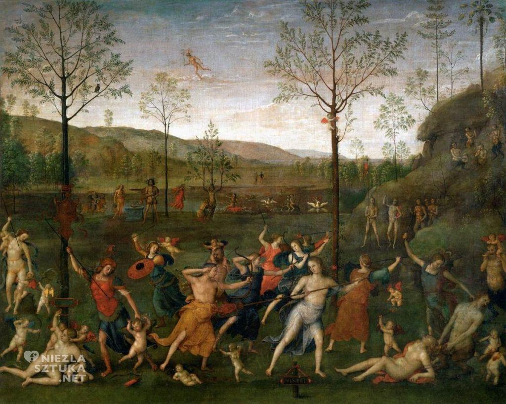 Pietro Perugino Walka Miłości z Czystością | 1503, Luwr