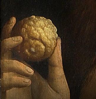 Rajski owoc // Hubert i Jana van Eyck <em>Ołtarz Gandawski</em>, poliptyk tablicowy, 350 × 500 cm, Katedra Świętego Bawona, Gandawa