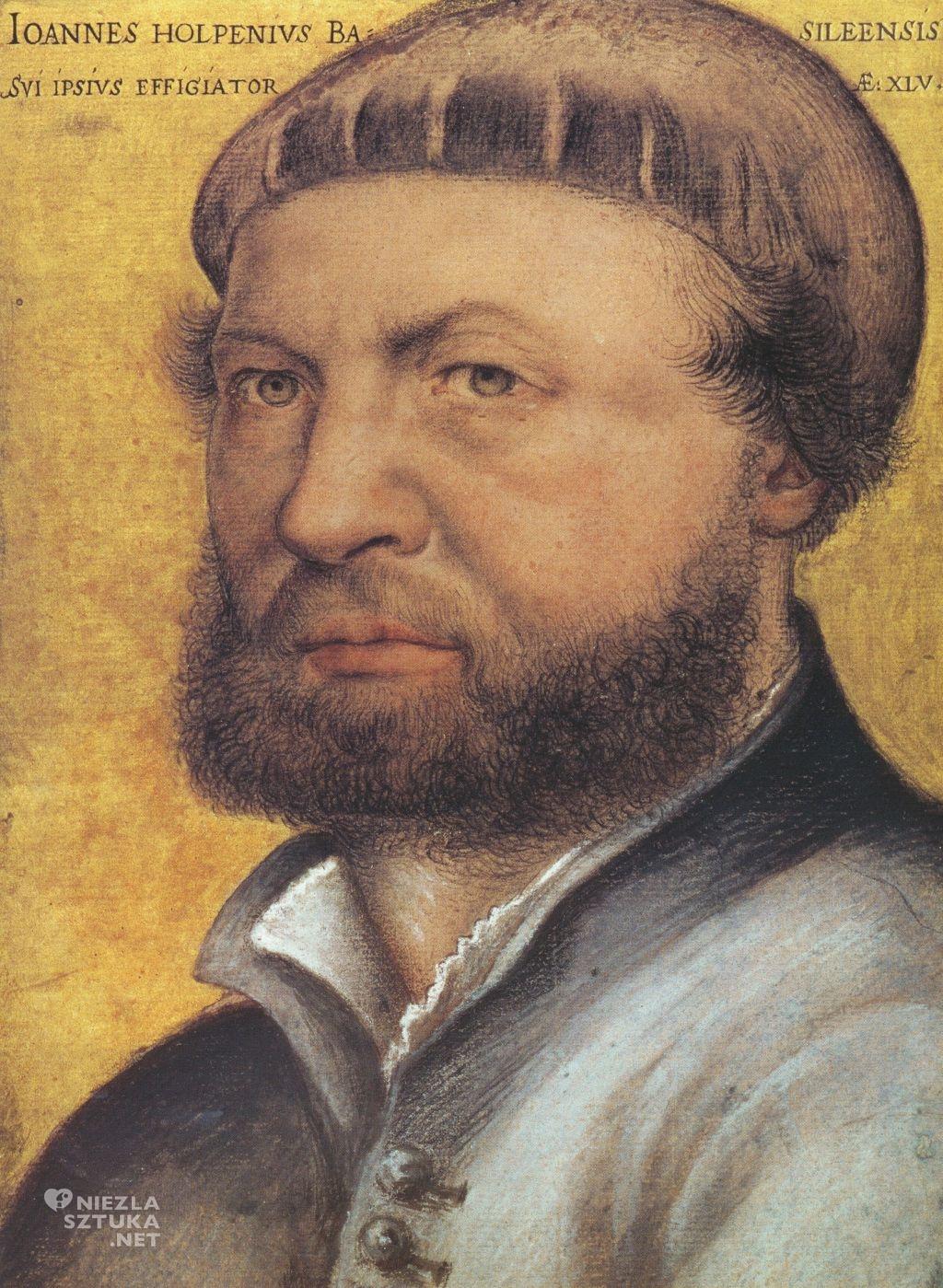 Hans Holbein Autoportret