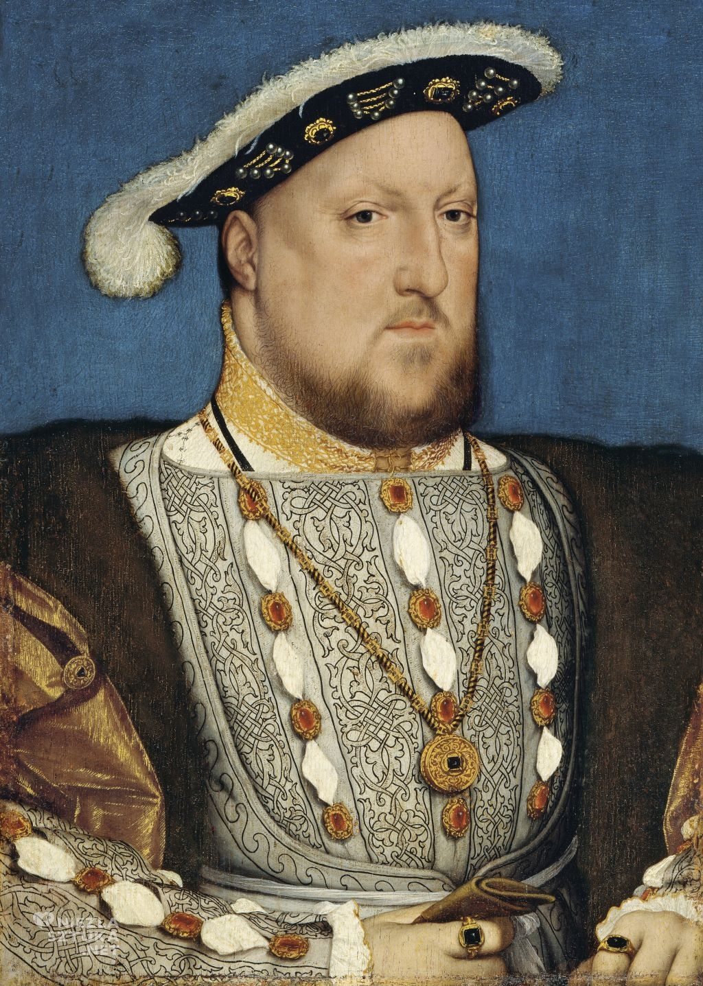 Hans Holbein Młodszy Portret Henryka VIII | 1537, Museo Thyssen-Bornemisza, Madryt