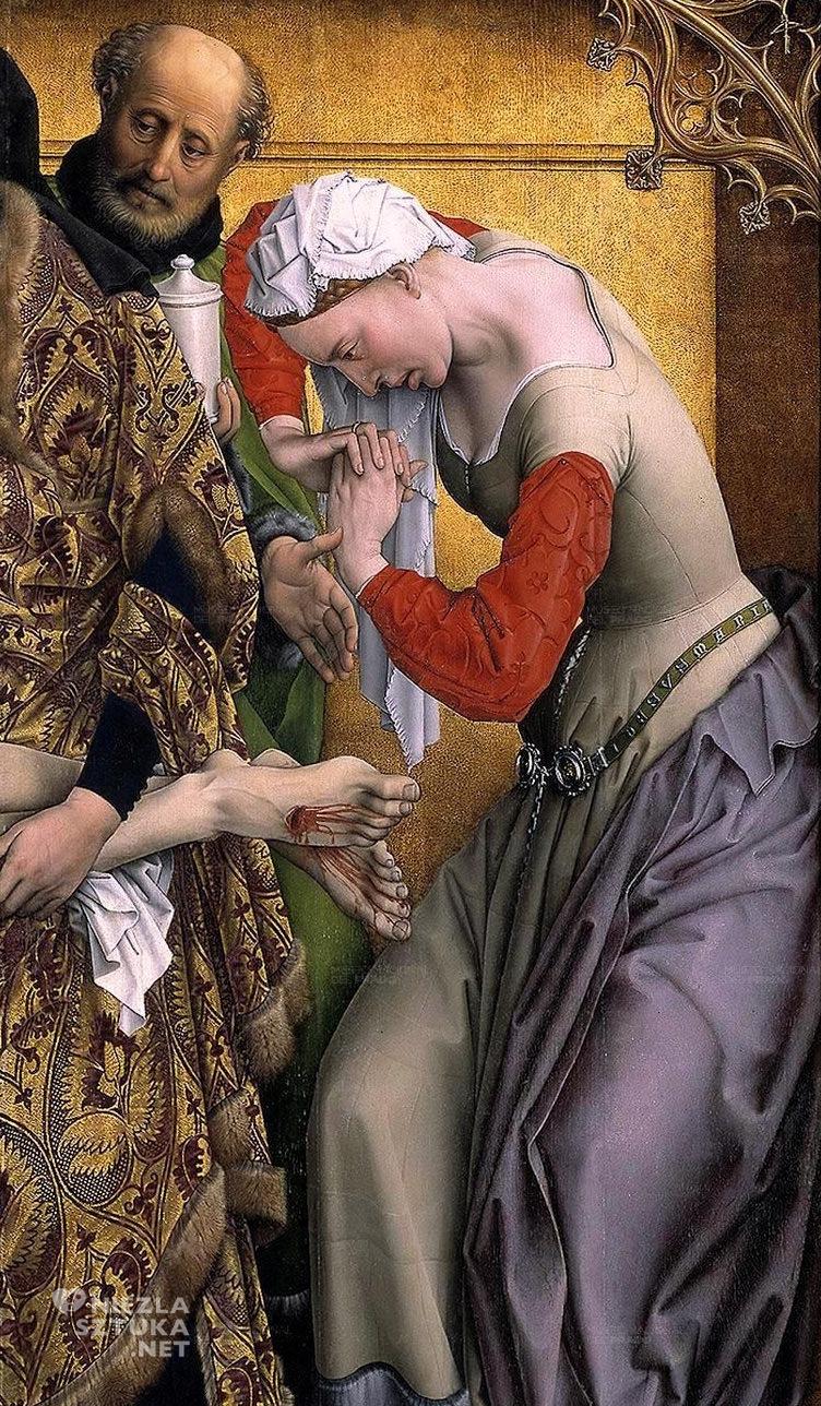Rogier van der Weyden Zdjęcie z krzyża, detal | ok. 1435, Prado