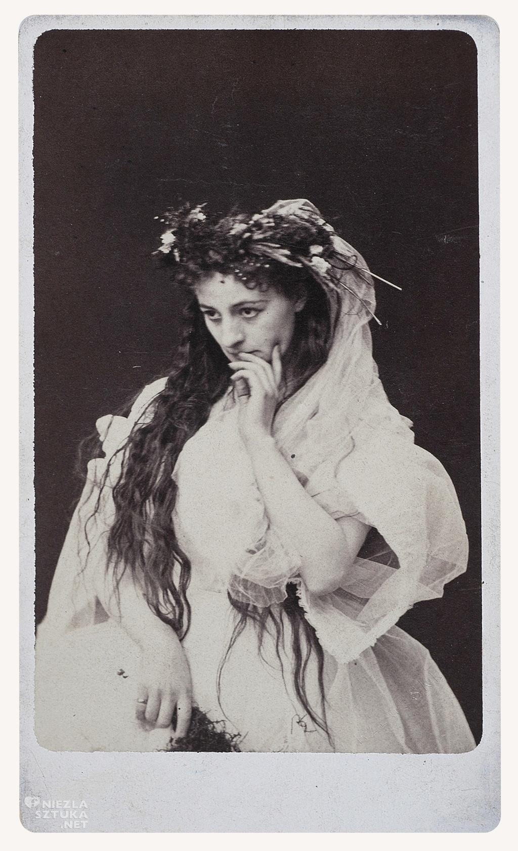 """Helena Modrzejewska jako Ofelia w """"Hamlecie"""" Szekspira, ok. 1867, fot. polona"""