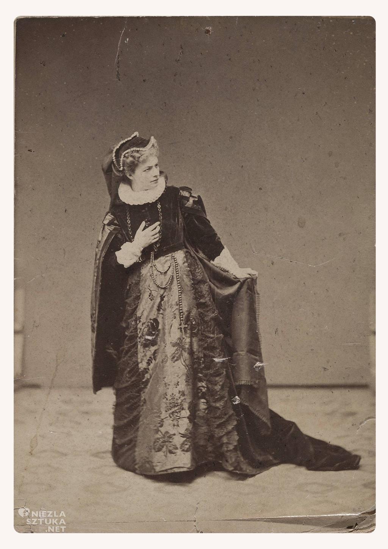 """Portret Heleny Modrzejewskiej w roli tytułowej w tragedii Friedricha Schillera """"Maria Stuart"""", 1868 r., fot. MNW"""