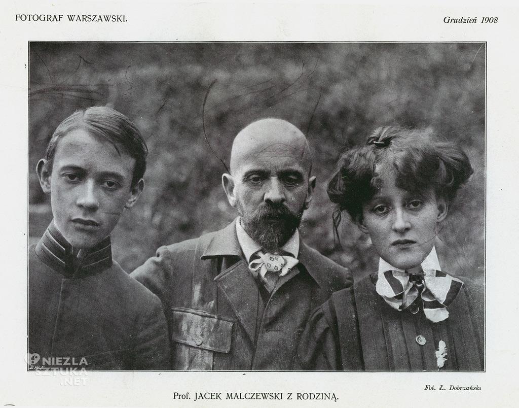 Jacek Malczewski z dziećmi
